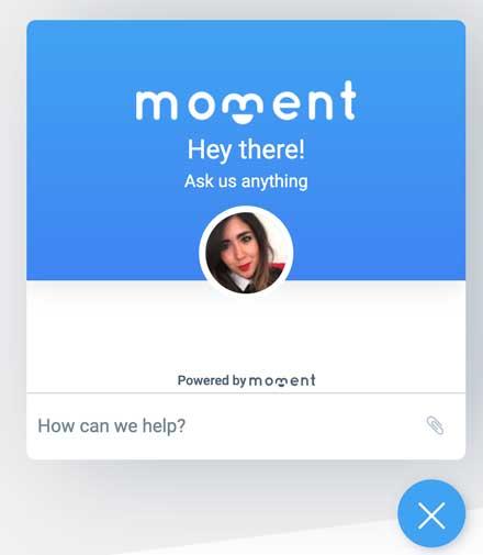 Moment Live Chat for Websites