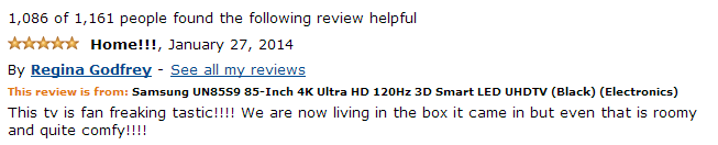 Funny customer review on amazon